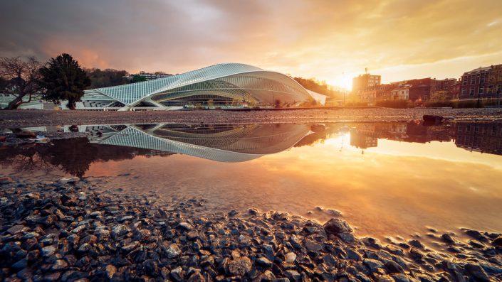 Gare de Liège-Guillemins, Sunset, DRI