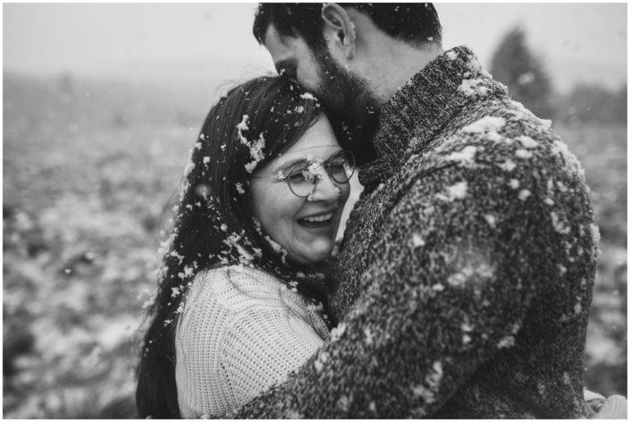 séance engagement love session mariage liège neige fagnes