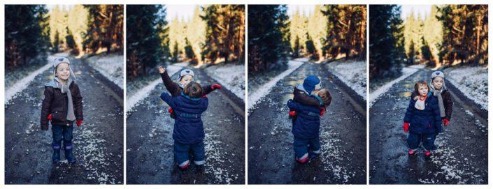 séance photo famille enfant lifestyle neige liège