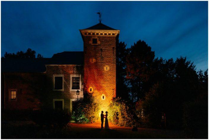 photo mariage liège nuit chateau amay